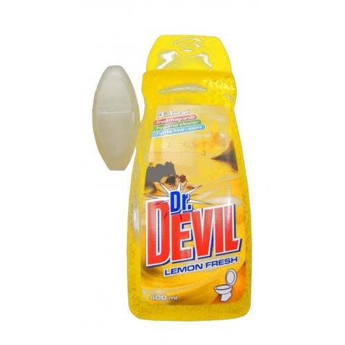 ŻEL DO WC DR. DEVIL 400ML + KOSZYK LEMON FRESH ŻEL DO WC DR. DEVIL 400ML +...