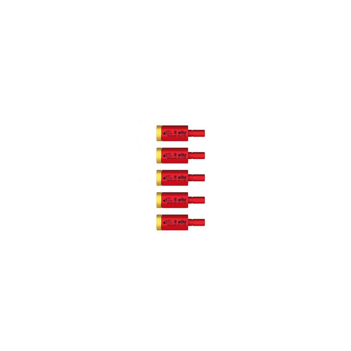 Zestaw adapterów dynamometrycznych easyTorque electric 29701 S5 Zestaw adapterów dynamometrycznych easyTorque electric Wiha - 41479
