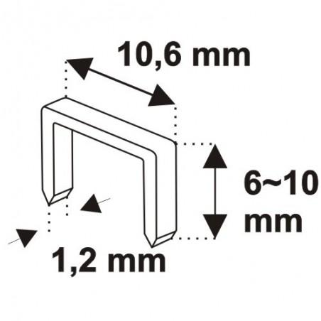 Zszywacz młotkowy DEDRA - 11Z004