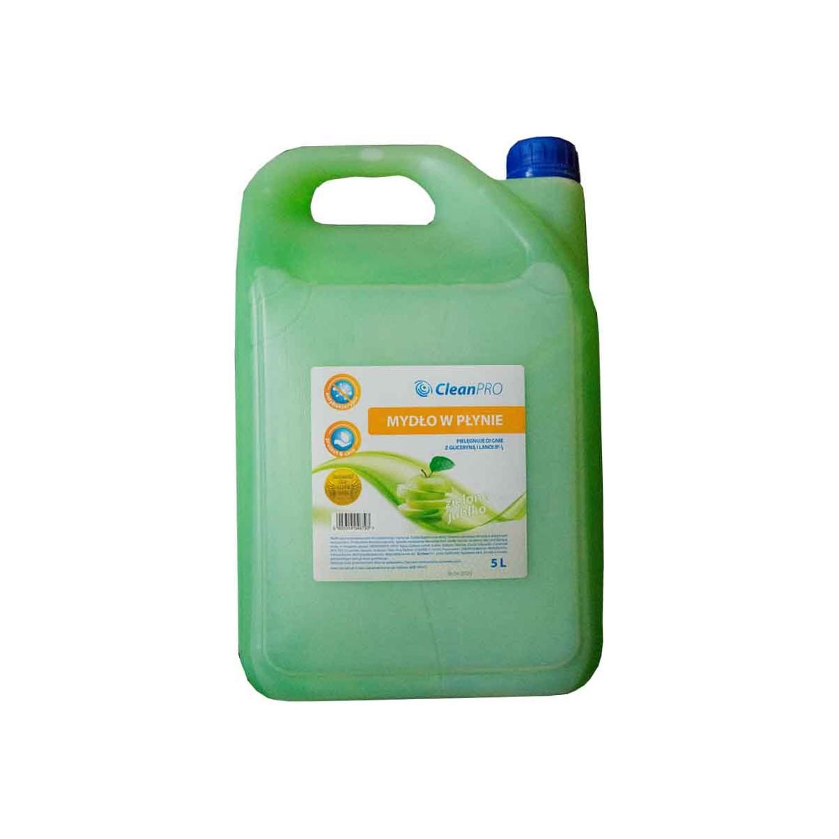 Mydło antybakteryjne zielone 5L, CleanPRO Mydło antybakteryjne zielone 5L, CleanPRO