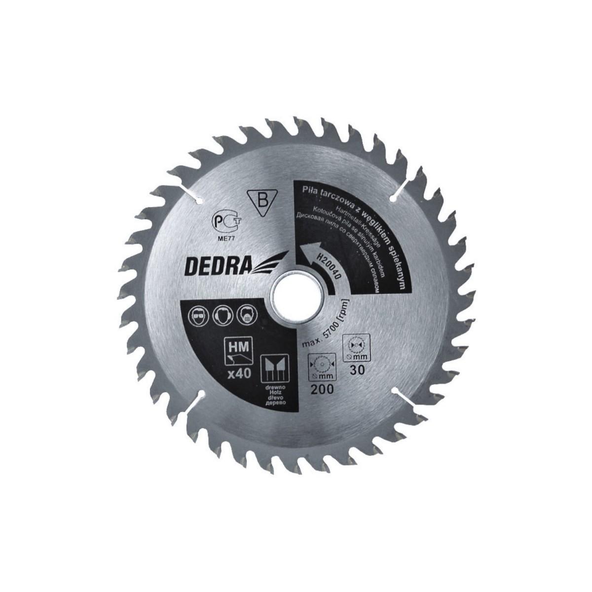 Piła 24T, 180 x 20 mm DEDRA - H18024 Piła 24T, 180 x 20 mm DEDRA - H18024