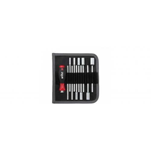 Wkrętak z trzonami wymiennymi zestaw SYSTEM 6 Klucz nasadowy sześciokątny 12-cz.U106 T12   Wkrętak z trzonami...