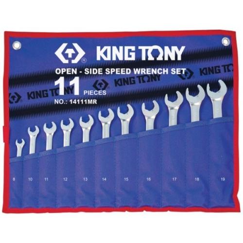 Klucze 8 - 19 płasko-oczkowe KING TONY - 14111MR Klucze 8 - 19...