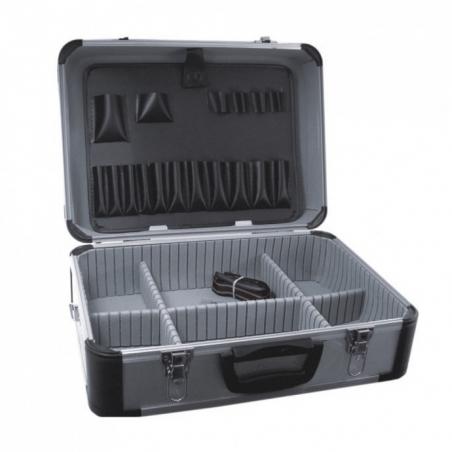DEDRA - SKRZYNKA NARZĘDZIOWA ALUM. 455*330*170MM Walizka aluminiowa N0008