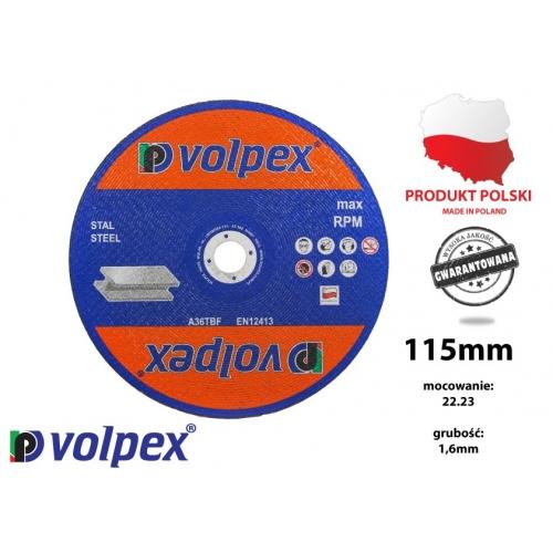 TARCZA 115*1.6*22.2 41 A46TBF VOLPEX Tarcza do cięcia metalu 115...