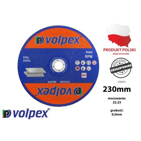 Tarcza szlifierska do metalu 230 mm - VOLPEX Tarcza szlifierska do metalu 230 mm - VOLPEX