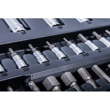 Zestaw PROLINE - Skrzynka narzędz.  + komplet kluczy