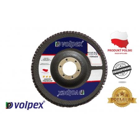 TARCZA PŁYTK. 125 GR.80 INOX PREMIUM VOLPEX Tarcza płytkowa 125 mm, inox premium - VOLPEX